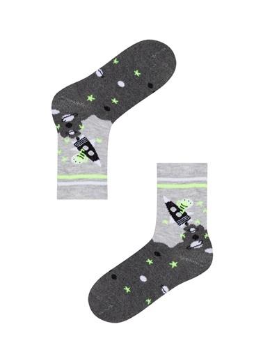 Penti Erkek Çocuk Space 3Lü Soket Çorap Renkli